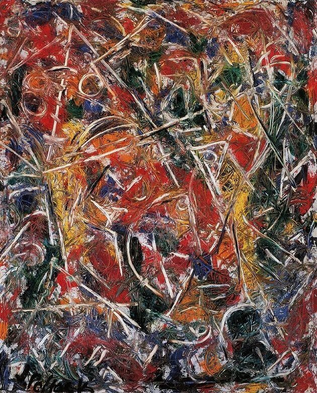 Croaking Movement 1946 By Jackson Pollock