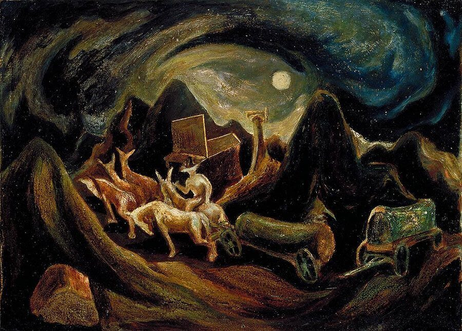 Going West 1934 By Jackson Pollock
