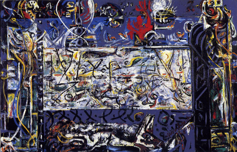 Guardians of the secret 1943 by jackson pollock for Mural 1943 by jackson pollock