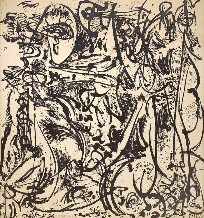 In Echo: Number 25, 1951 by Jackson Pollock