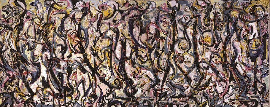 Mural 1943 by jackson pollock for Mural on indian red ground