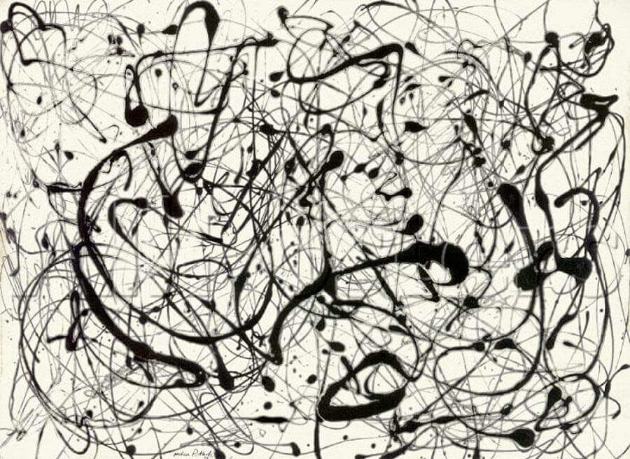 Number 14 gray 1948 by jackson pollock for Mural on indian red ground