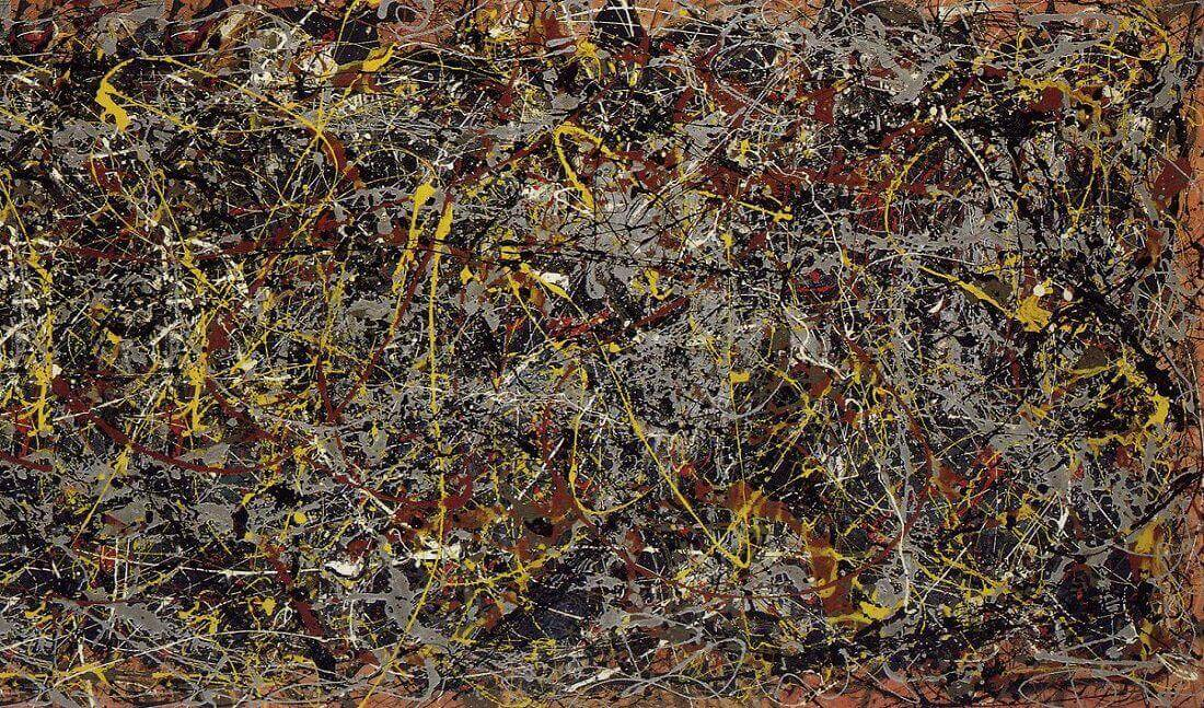 Number 5 1948 by jackson pollock for Mural pollock