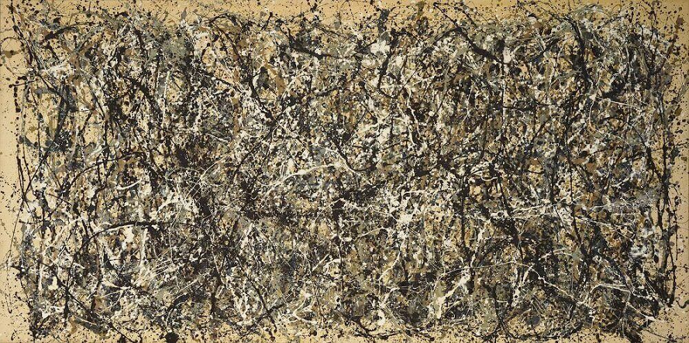 One number 31 1950 by jackson pollock for Mural on indian red ground