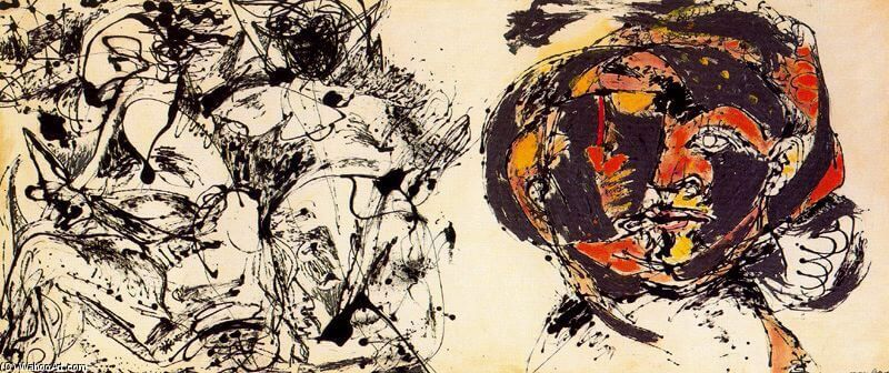 Portrait and a Dream, 1953 by Jackson Pollock