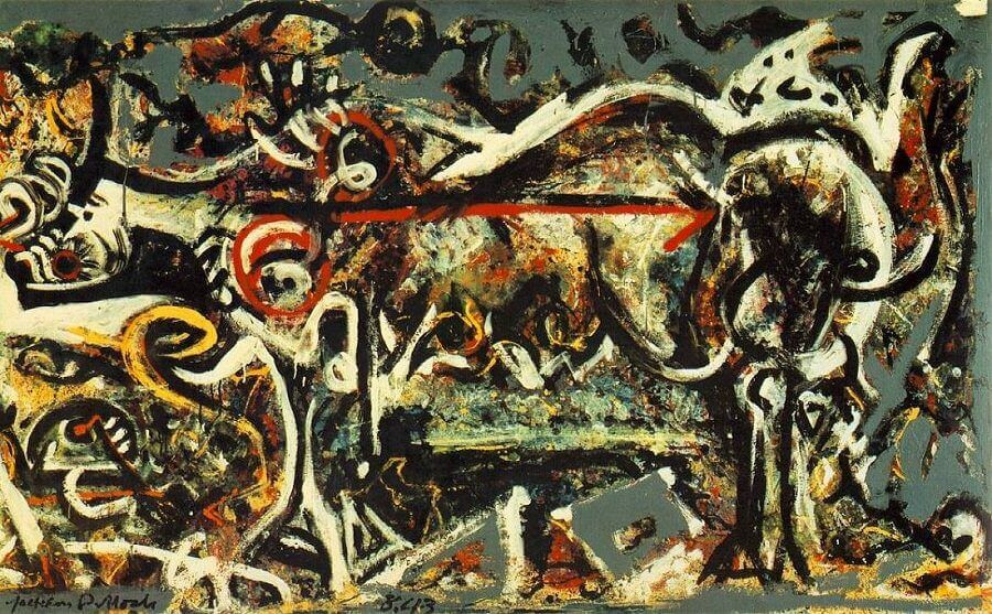 The She Wolf, 1943 by Jackson Pollock